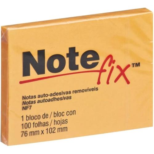 BLOCO NOTE FIX NF7 76 MM X 102 MM 100 FOLHAS LARANJA