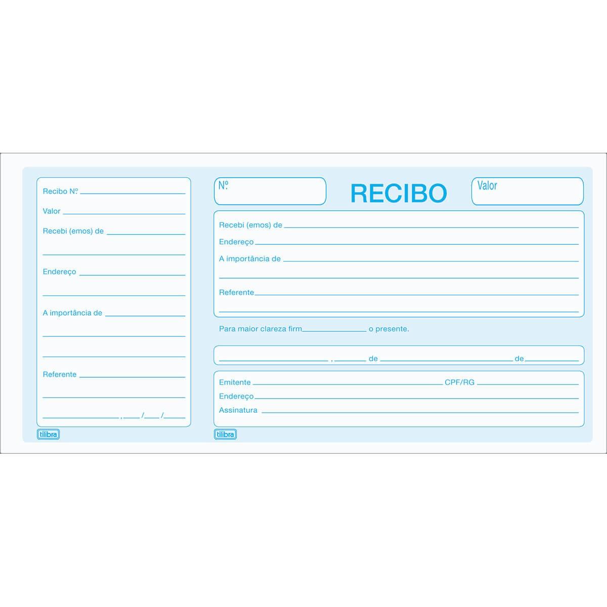 BLOCO RECIBO COMERCIAL COM CANHOTO - TILIBRA