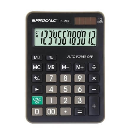 CALCULADORA PROCALC - PC286 12 DÍGITOS