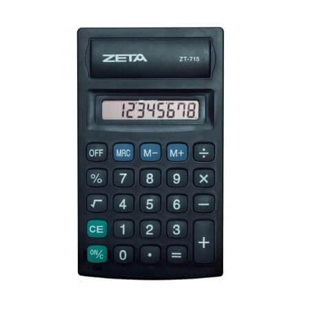 CALCULADORA ZETA - ZT715 8 DÍGITOS
