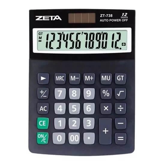 CALCULADORA ZETA - ZT738 12 DÍGITOS