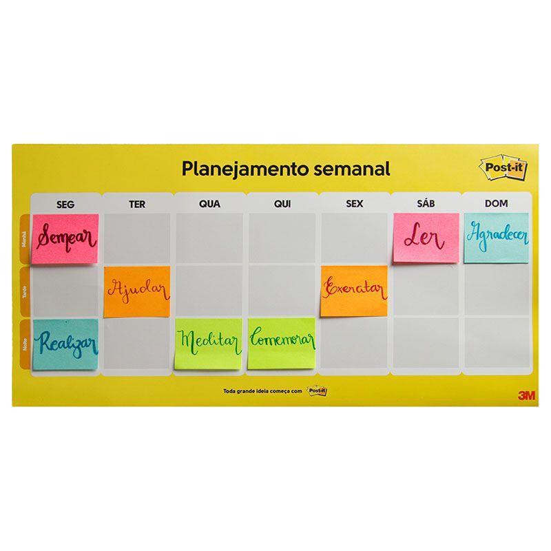 CALENDARIO SEMANAL POST-IT C/ 2 BLOCOS 38X50
