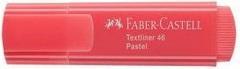 CANETA FABER-CASTELL MARCA TEXTO TEXTLINER 46 - VERMELHO PASTEL