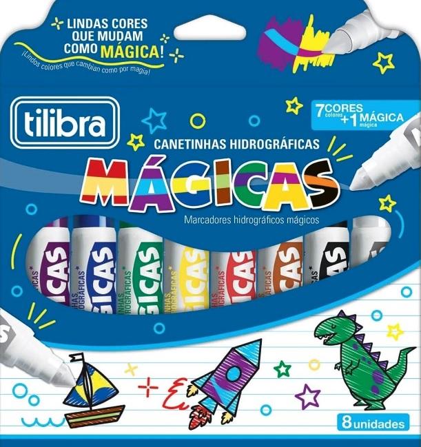 CANETA HIDROGRÁFICA TILIBRA JUMBO MAGICA 12 CORES
