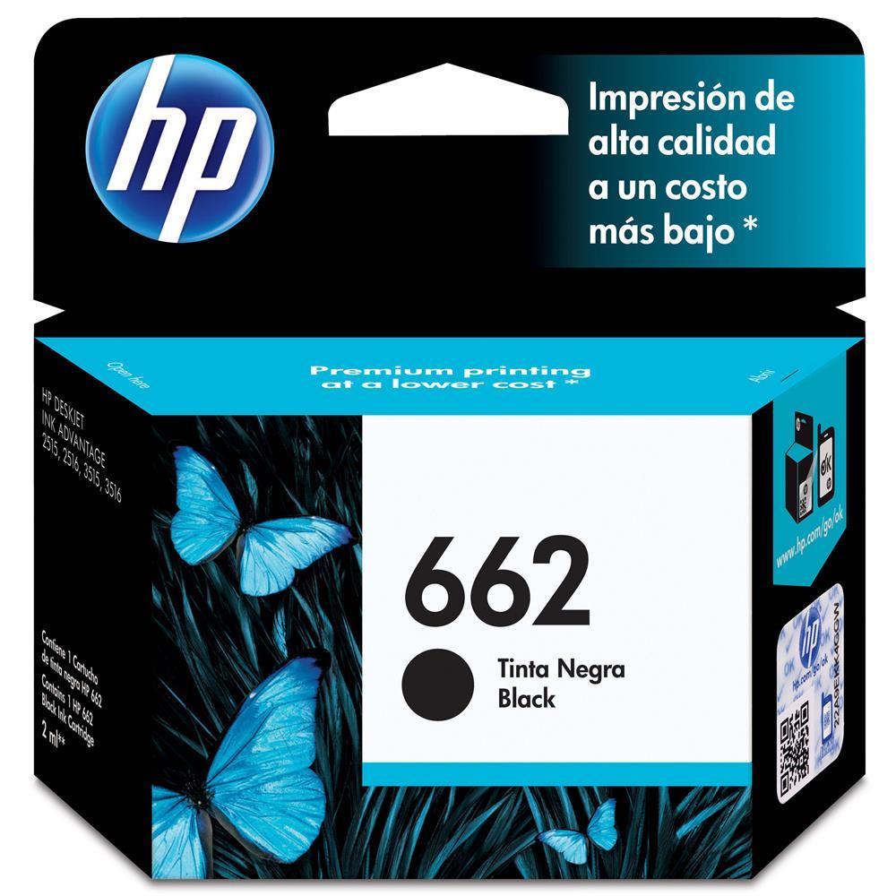 CARTUCHO HP 662 PRETO 2 ML (CZ103AB)