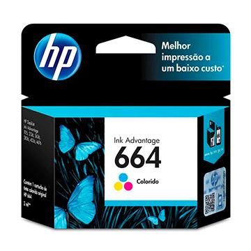 CARTUCHO HP 664 COLORIDO 2 ML (F6V28AB)
