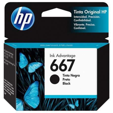 CARTUCHO HP 667 PRETO 2 ML
