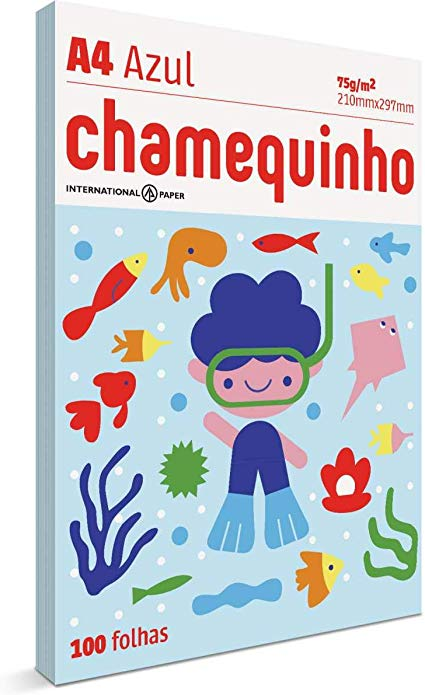 CHAMEQUINHO A4 100 FLS - AZUL