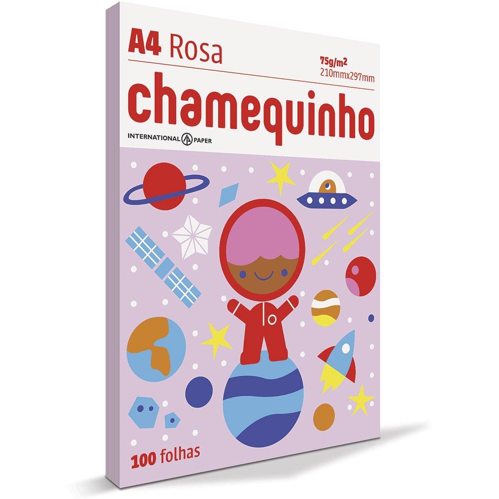 CHAMEQUINHO A4 100 FOLHAS - ROSA