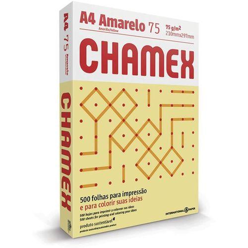 CHAMEX COLORS A4 75G 500 FOLHAS AMARELO