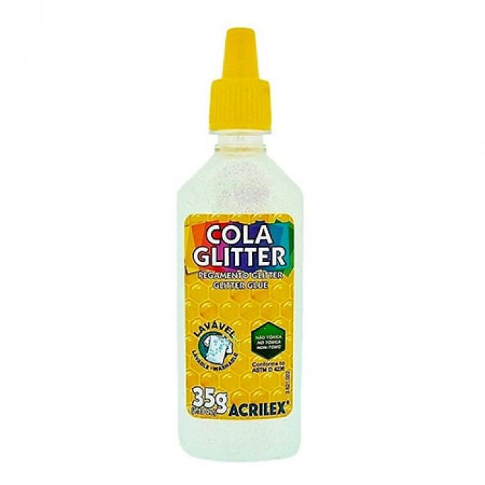 COLA GLITTER ACRILEX 35G CRISTAL