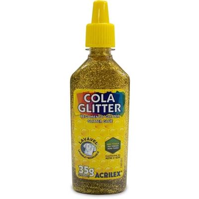 COLA GLITTER ACRILEX 35G OURO