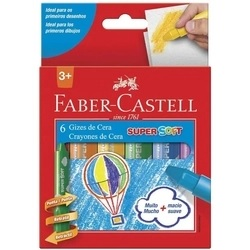 GIZ DE CERA SUPER SOFT 6 CORES FABER-CASTELL