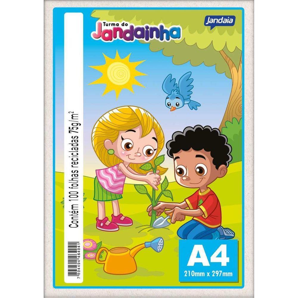 JANDAINHA A4 75G 100 FLS - RECICLADO
