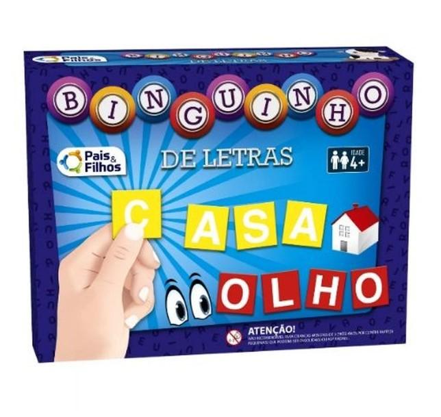 JOGO BINGUINHO DE LETRAS PAIS E FILHOS