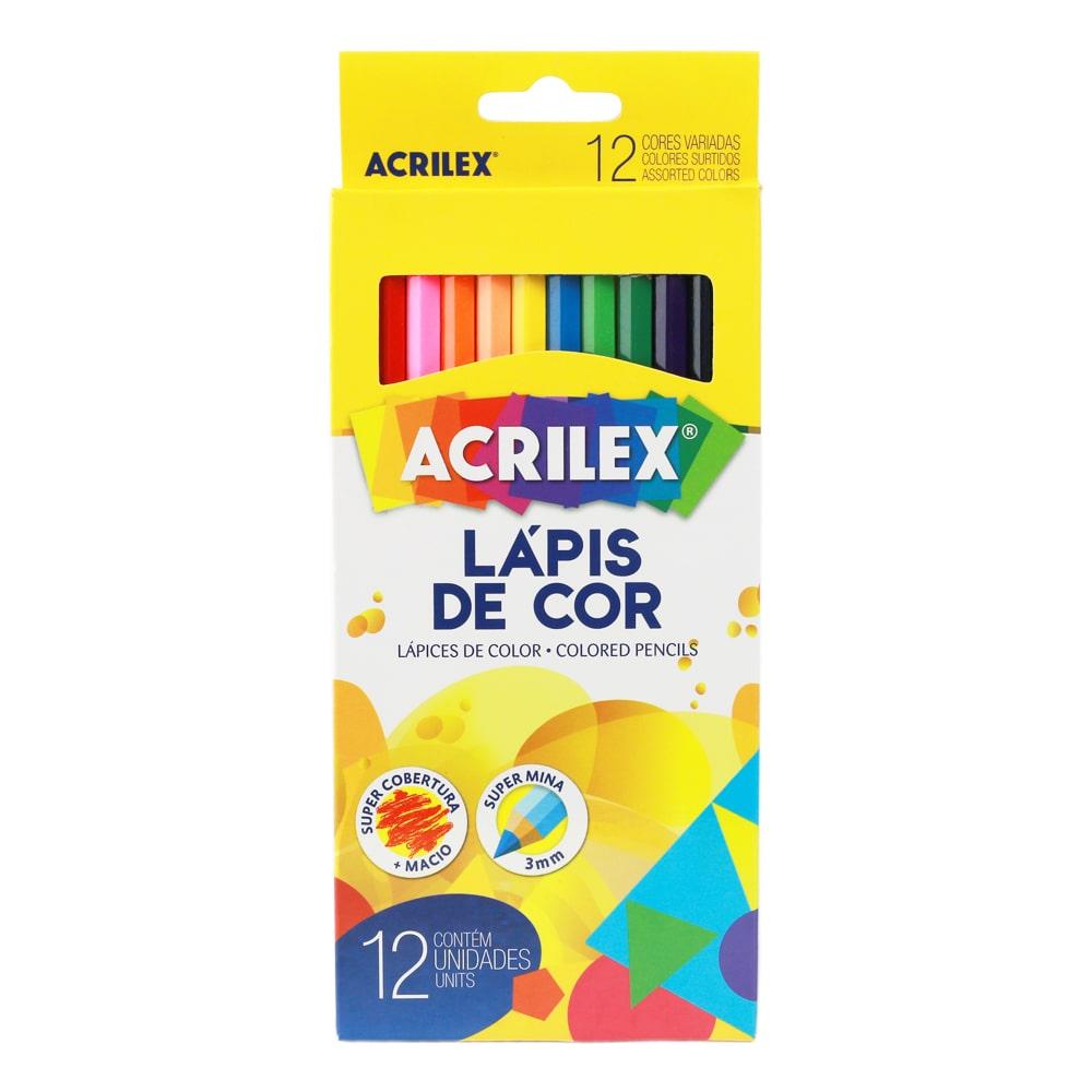 LÁPIS DE COR ACRILEX 12 CORES REF 09692