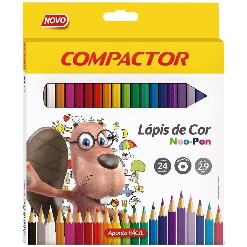 LÁPIS DE COR COMPACTOR 24 CORES