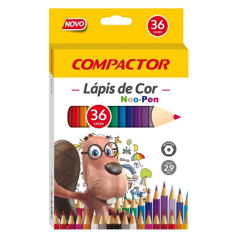 LÁPIS DE COR COMPACTOR 36 CORES