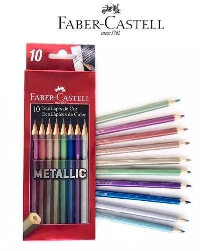 LÁPIS DE COR FABER-CASTELL 10 CORES METÁLICO