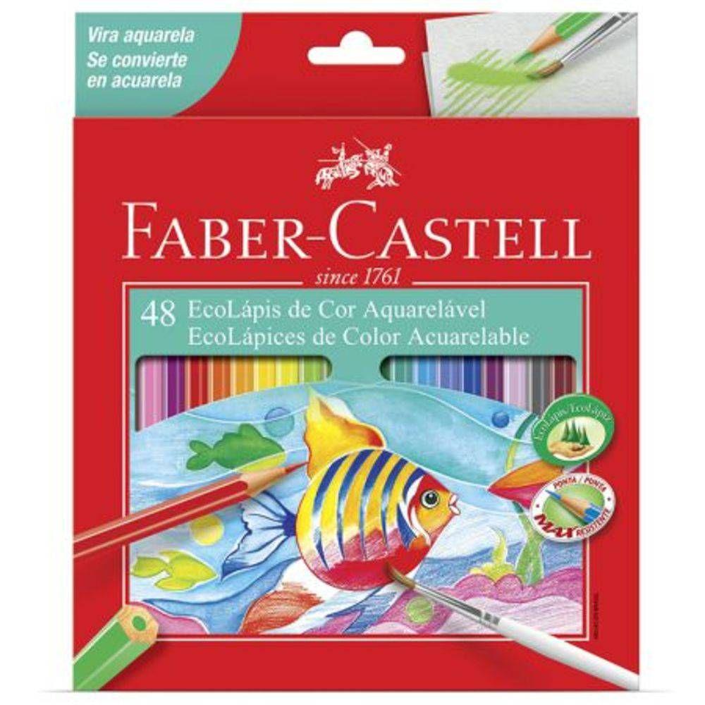 LÁPIS DE COR FABER-CASTELL 48 CORES AQUARELÁVEL