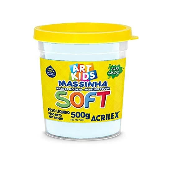 MASSINHA DE MODELAR SOFT ACRILEX POTE 150G BRANCO NEVE