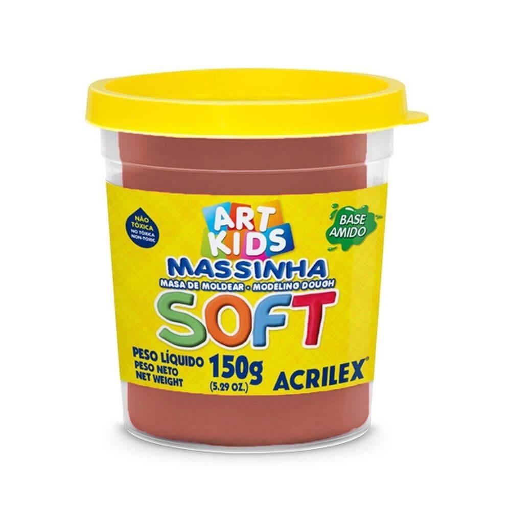 MASSINHA DE MODELAR SOFT ACRILEX POTE 150G CHOCOLATE