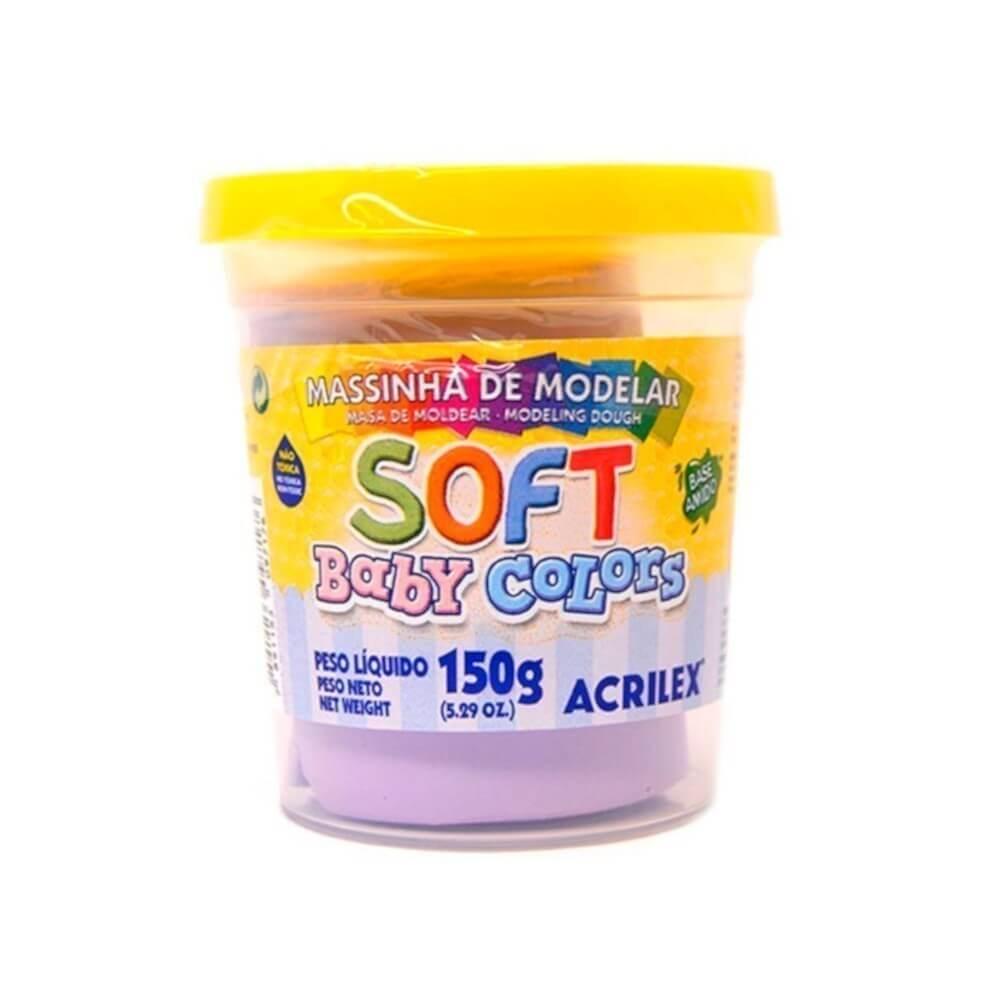 MASSINHA DE MODELAR SOFT ACRILEX POTE 150G LILAS BEBE