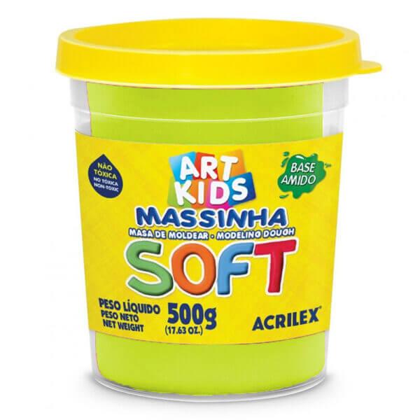 MASSINHA DE MODELAR SOFT ACRILEX POTE 500 G AMARELO LIMÃO