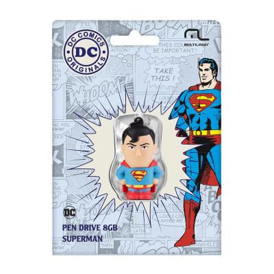 PEN DRIVE DC COMICS - SUPER HOMEM 8GB - MULTILASER