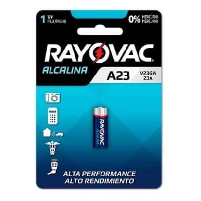 PILHA ELETRONICA A23 RAYOVAC ALCALINA 12 V