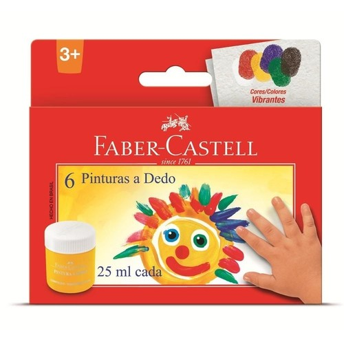 PINTURA A DEDO FABER-CASTELL 25 ML 6 CORES