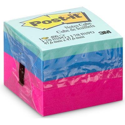 POST-IT CUBINHO 47,6 x 47,6 400 FLS 3 CORES