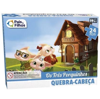 QUEBRA-CABEÇA OS TRÊS PORQUINHOS 24 PEÇAS