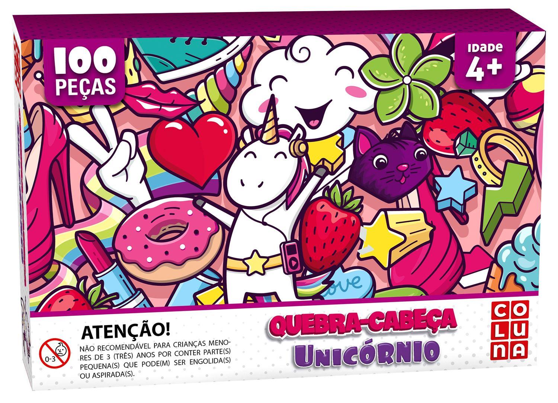 QUEBRA-CABEÇA UNICÓRNIO 100 PEÇAS - PAIS E FILHOS