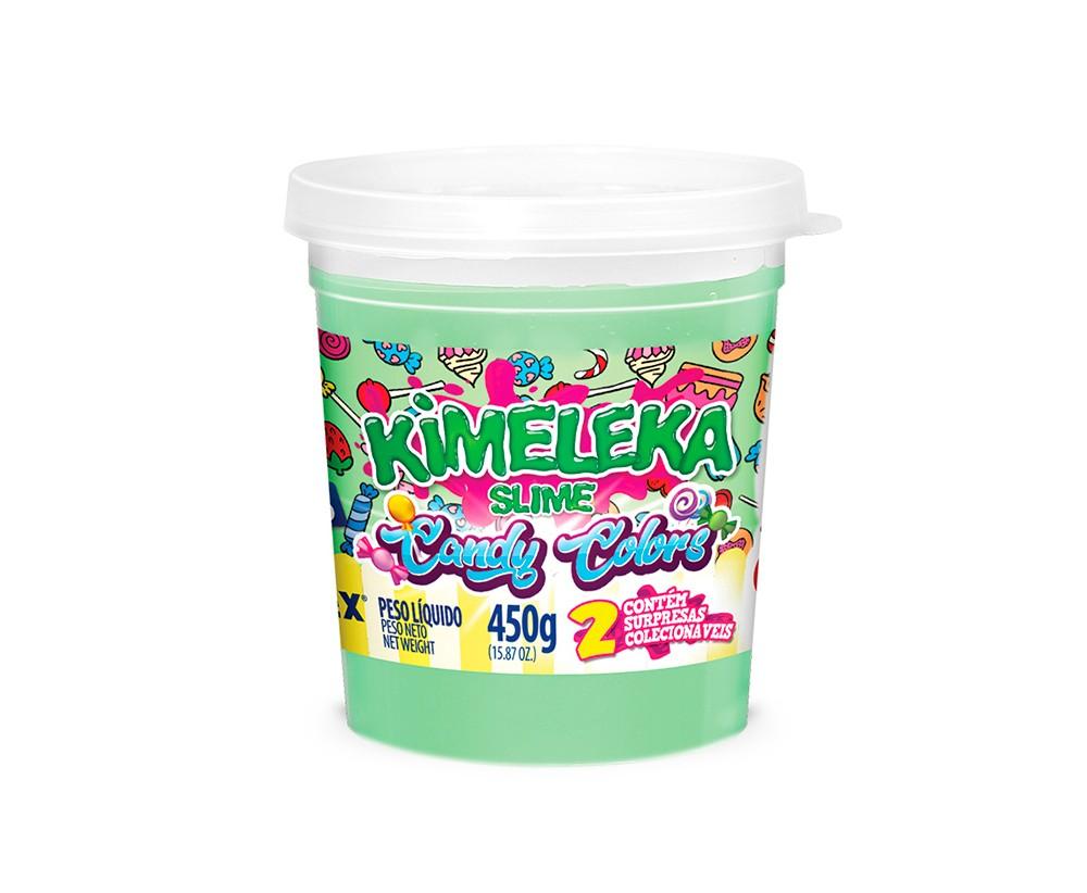 SLIME CANDY COLORS VERDE BEBE KIMELEKA ACRILEX 450G