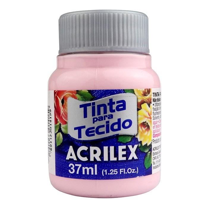 TINTA DE TECIDO ACRILEX 37 ML ROSA BEBE