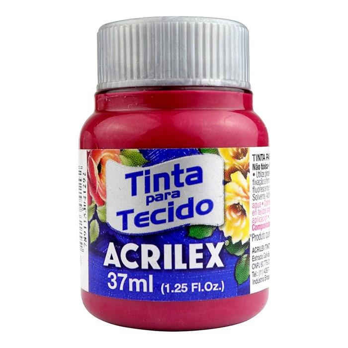 TINTA DE TECIDO ACRILEX 37 ML VERMELHO CARMIM