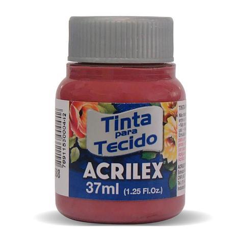 TINTA DE TECIDO ACRILEX 37 ML VERMELHO QUEIMADO