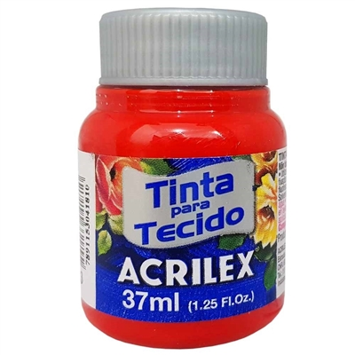 TINTA DE TECIDO ACRILEX 37 ML VERMELHO TOMATE