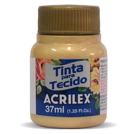 TINTA DE TECIDO ACRILEX METÁLICA 37 ML OURO