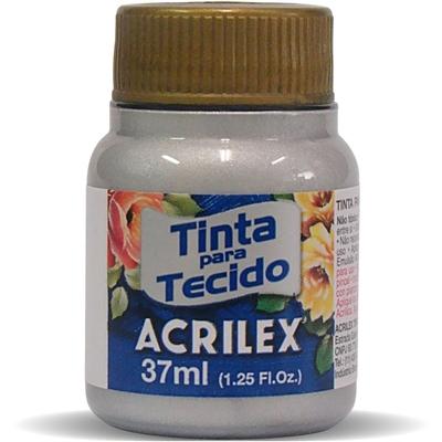 TINTA DE TECIDO ACRILEX METÁLICA 37 ML PRATA