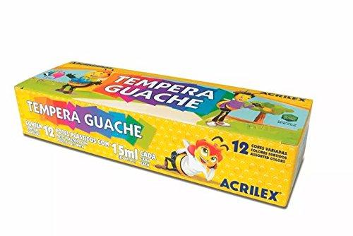 TINTA GUACHE ACRILEX 15 ML 12 CORES