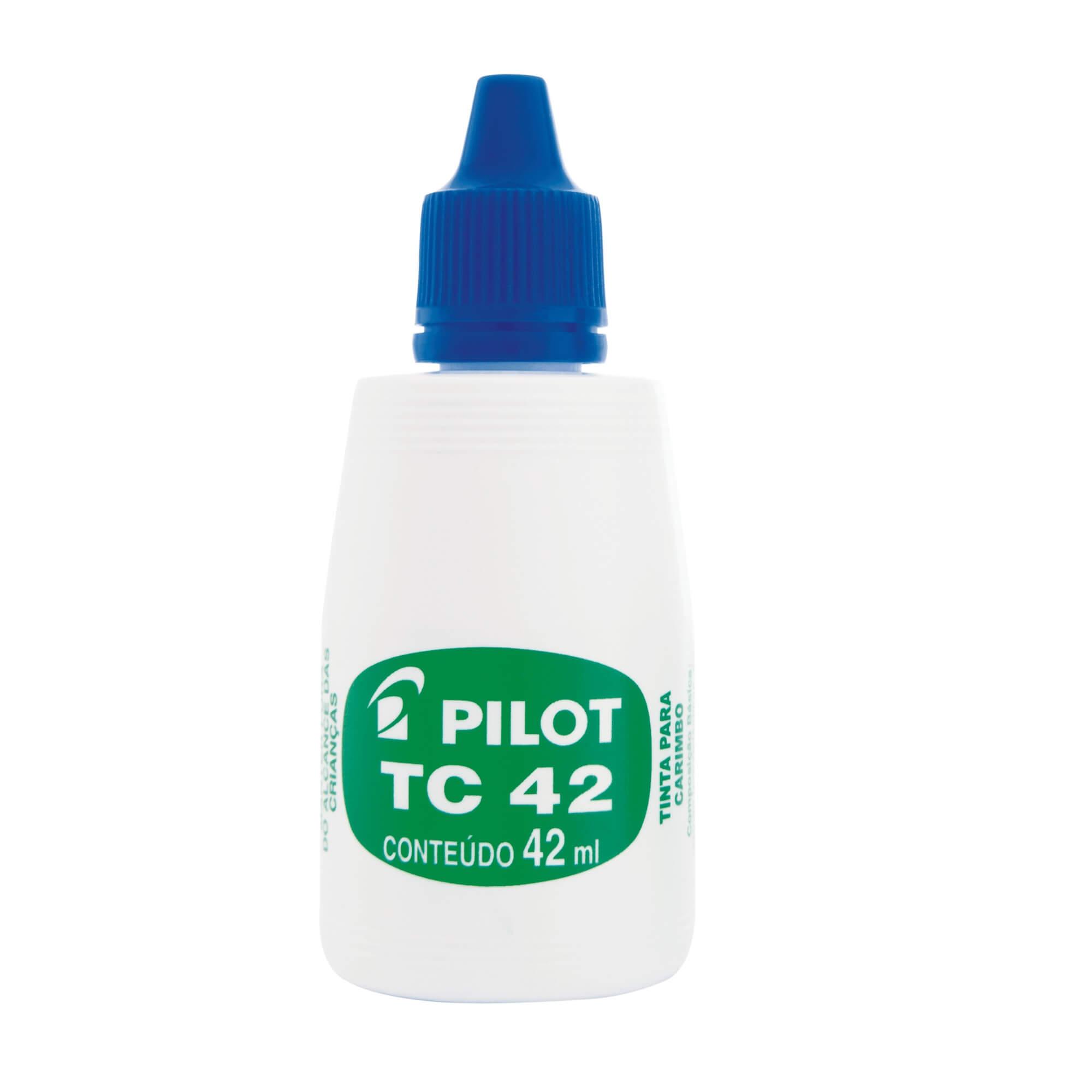 TINTA PARA CARIMBO PILOT TC 42 AZUL 42 ML