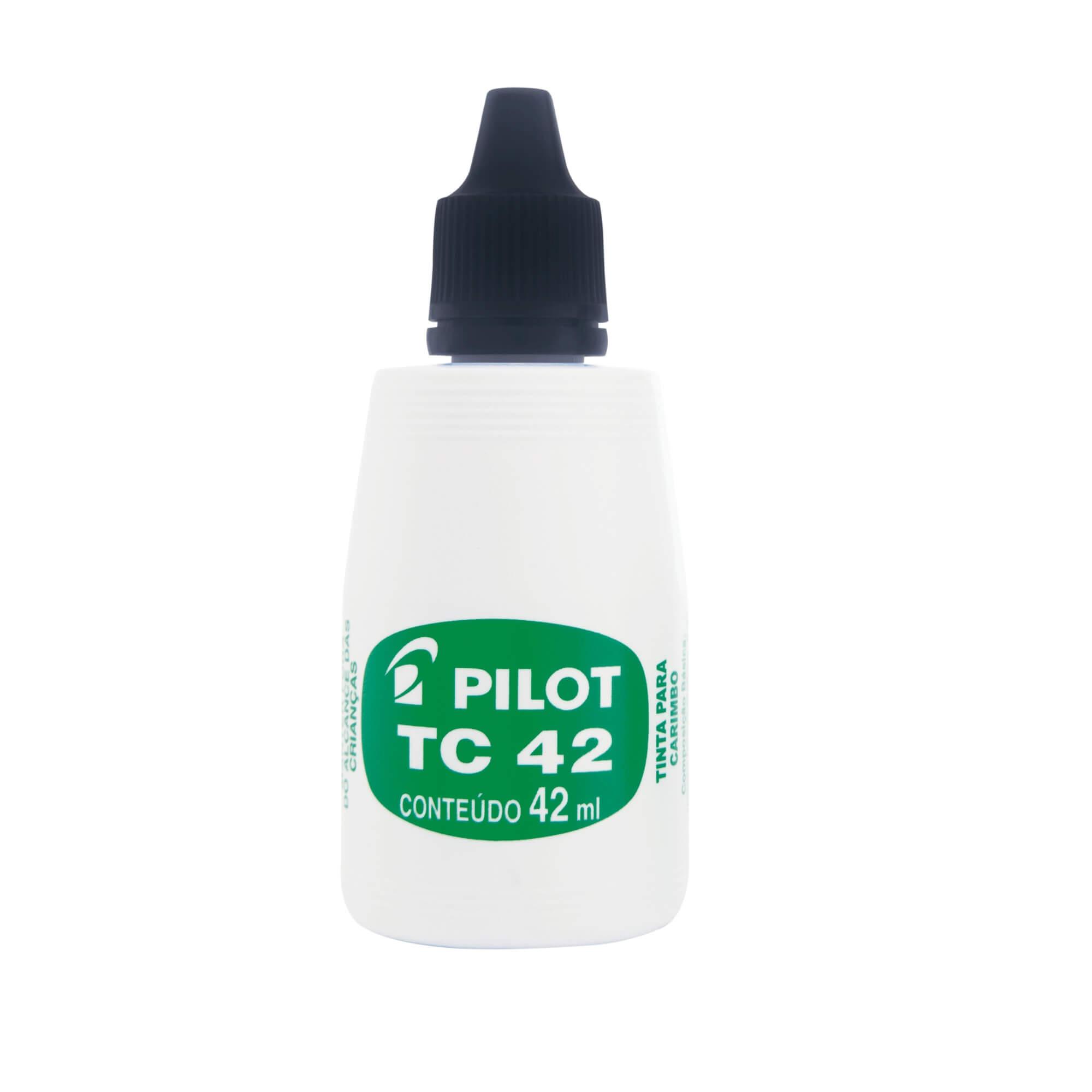 TINTA PARA CARIMBO PILOT TC 42 PRETA 42 ML