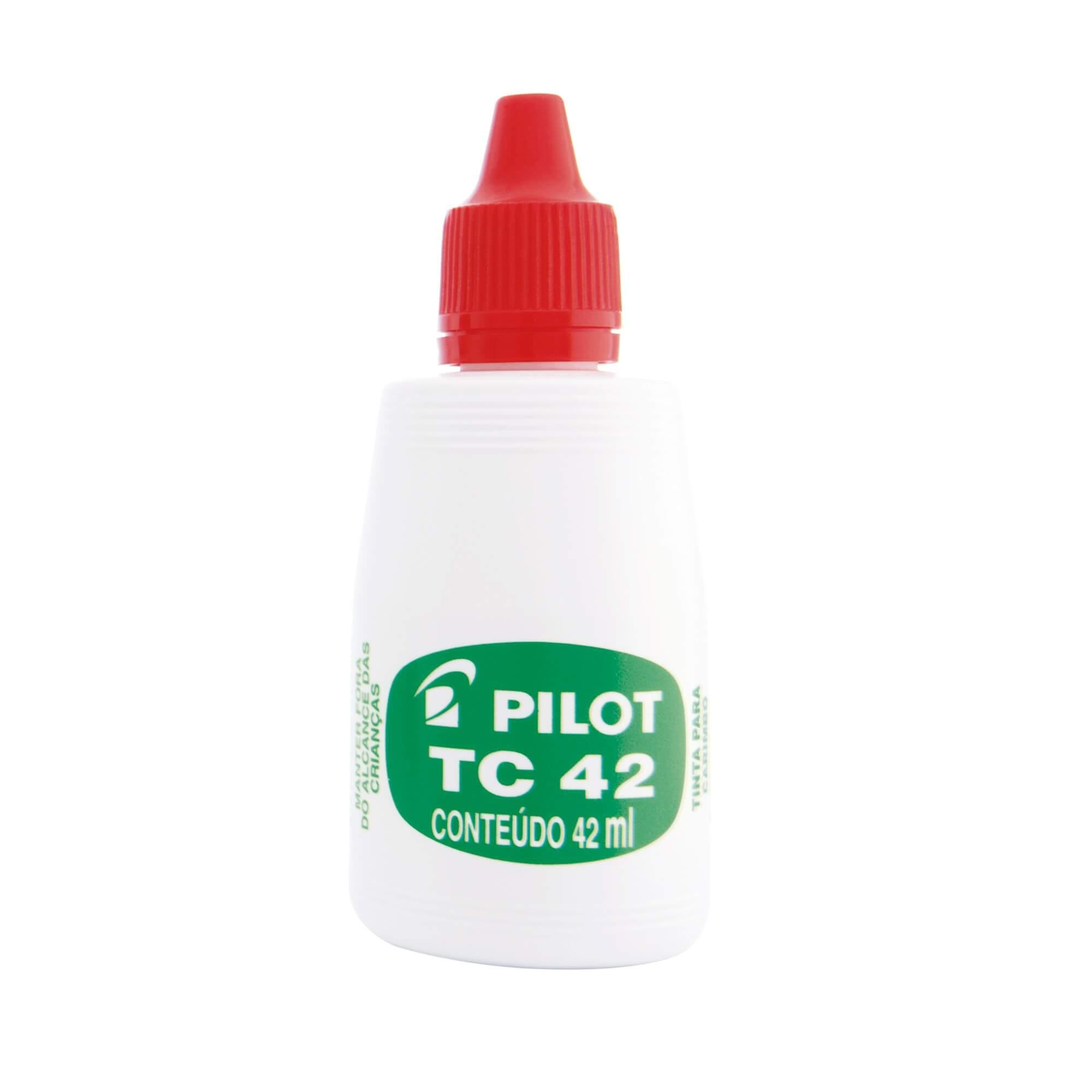 TINTA PARA CARIMBO PILOT TC 42 VERMELHA 42 ML