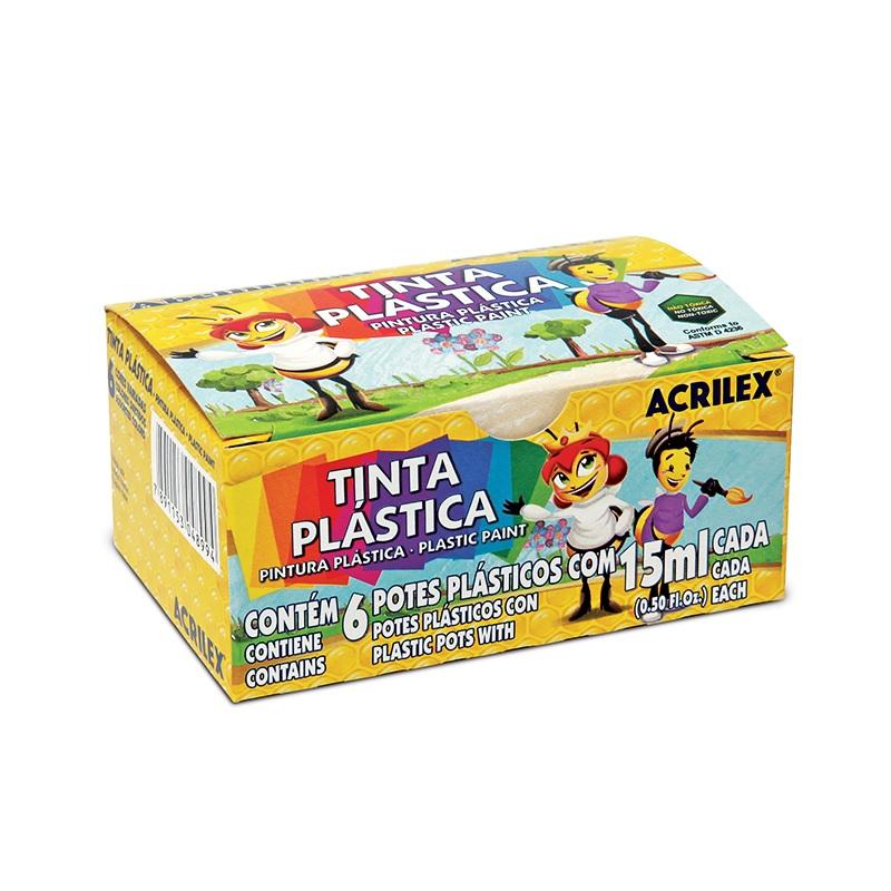 TINTA PLÁSTICA ACRILEX 15 ML 6 CORES