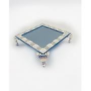 Bandeja Itália Espelho Fume Com Detalhe Strass Lavabo 10x10