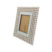 Porta Retrato Com Espelho e Pérolas