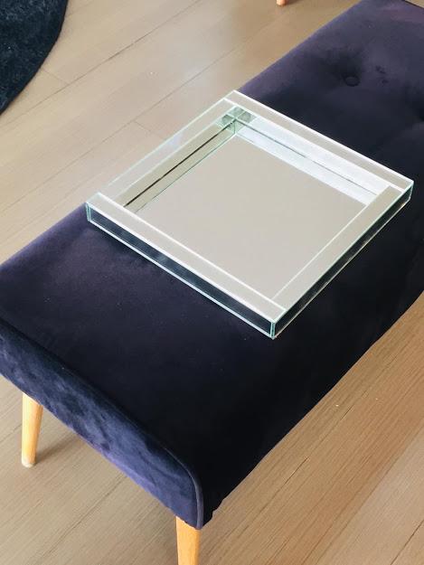 Bandeja Espelhada 30x30 Quadrada Com Mdf Luxo