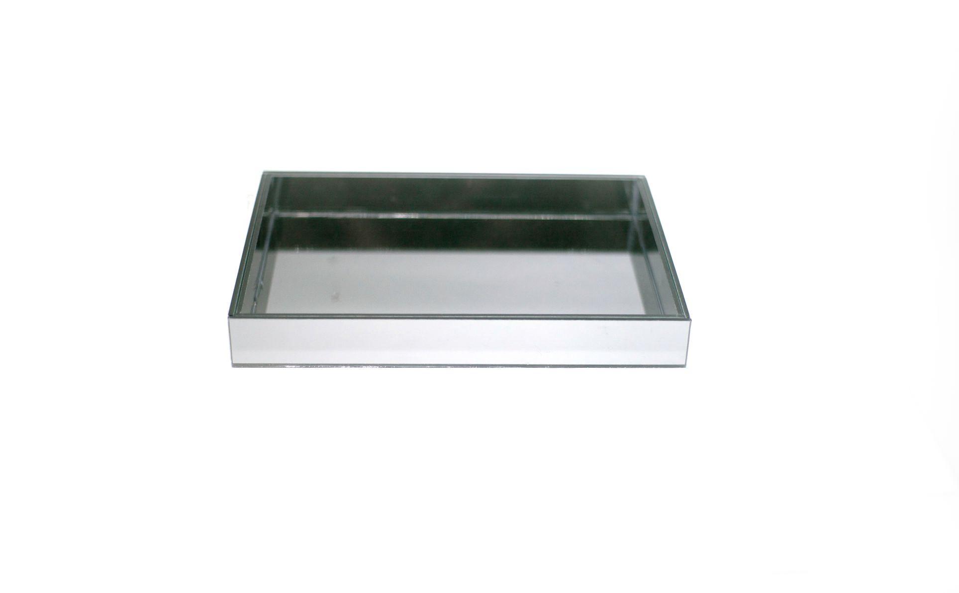 Bandeja Espelhada Fume De Mesa Para Sala Jantar 30x20